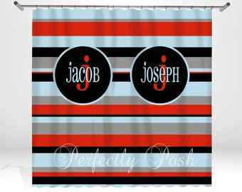 Personalized Custom Shower Curtain Monogram with Name or Initials perfect for any bathroom