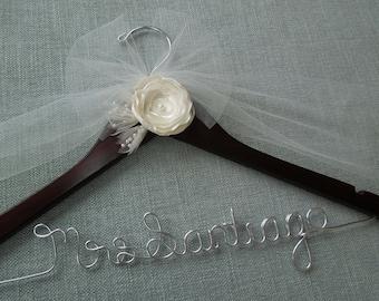 Wedding Dress Hanger, Bridal Shower Gift, Custom Wedding Hanger, Bridal Hanger