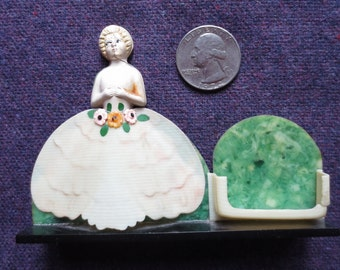 Vintage Fort Pierce Florida Plastic Seashell Girl Kitch Souvenir 1960s