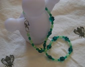 Swarovski Crystal Clover Emerald Green Necklace for St. Patrick's Day or Anytime