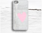 iPhone 6S Case, iPhone 6S Plus Case Concrete, iPhone 5s Case Pink Heart, iPhone 6 Case, Pealing Paint iPhone Case, Heart iPhone 5c Case T31
