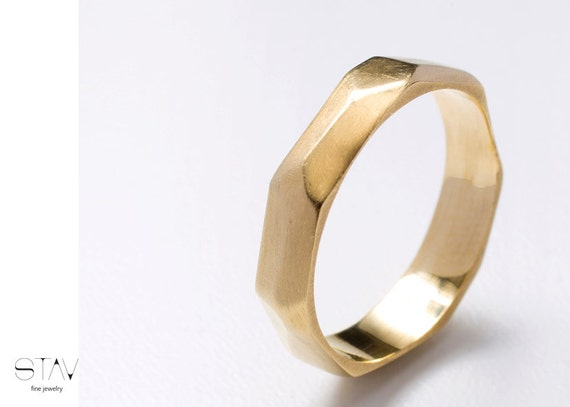 Wedding ring, gold ring, 14k gold