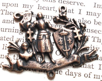 St. Joan of Arc Rosary Center - Vintage Replica - Made in the USA  (R52-1206)