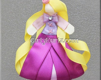 Rapunzel Ribbon Sculpture Hair Clip - Tangled Hair Clip