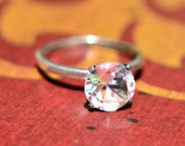 Ice Crystal Solitaire Ring, Diamond Alternative Engagement Ring, April Birthstone, Bridesmaids Gifts