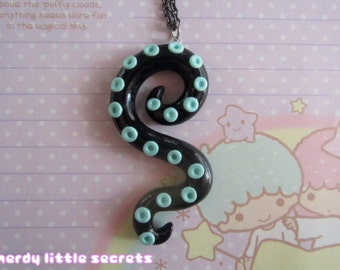 Pastel Goth Octopus Tentacle Necklace