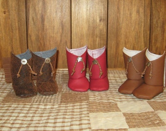 """Cowgirl Boots for your 18"""" American Girl Doll ( 3different choices)"""