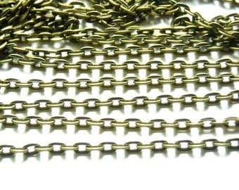 Antique Bronze Cable Chain - 10M - 22-28-2