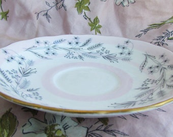 Retro Pink and Grey Harvest-Themed Colclough Dish