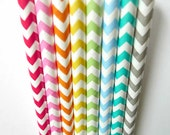 100 Chevron Straws w/ DIY Flags pdf (USA) Party Decoration - PartyAwwSweet