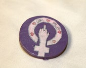 Feminism Girl Power Glitter Pin