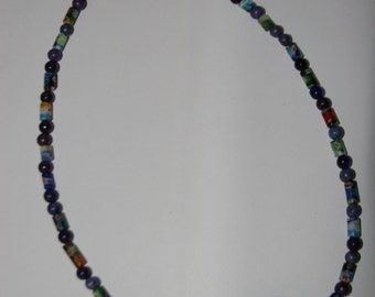 Purple and Colorful Shell Necklace