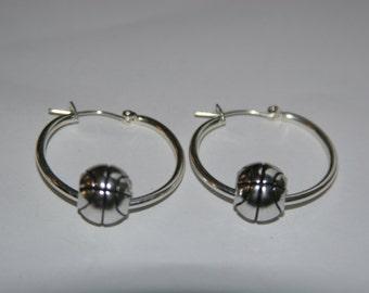 Basketball Hoop earrings.