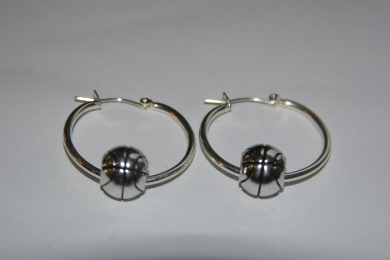 basketball hoop earrings by karlajophoto on etsy