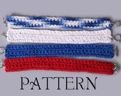 PDF Crochet Pattern - Star Stitch Bracelet
