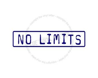 No Limits Vinyl Wall Decal Teenager Bedroom Sticker