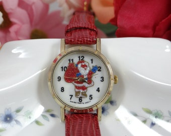 Working Swiss Movt Santa Watch - Cute