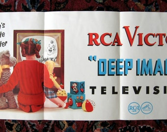SALE 1970s RCA Victor Television Advertising