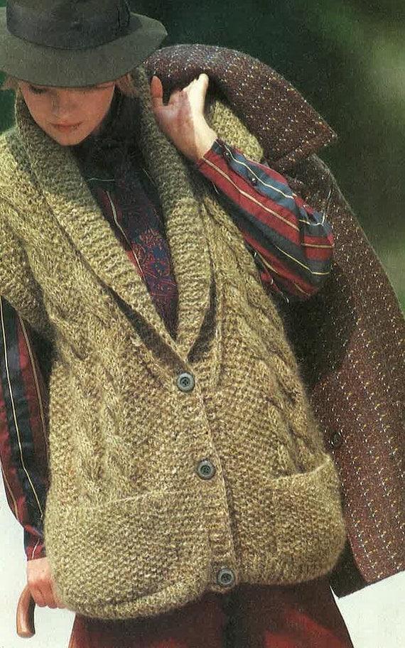 Knitting Pattern Ladies Long Coat : Ladies Long Waist Coat Knitting Pattern PDF No 0463 From