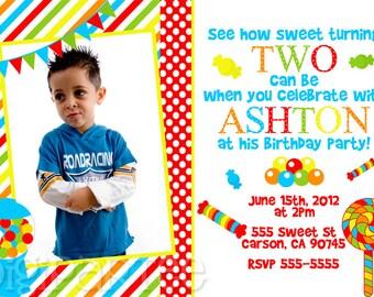 Candy Shoppe Invitation