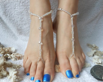Barefoot Sandals Beach Wedding   Yoga Shoes Foot Jewelry  Beads Crystal