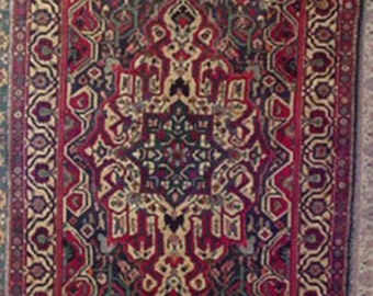 1970s Hand-Knotted Bakhtiari Persian Rug (2166)