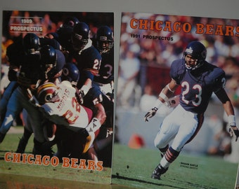 Chicago Bears Collection of both 1989 and 1991 Prospectus Magazines
