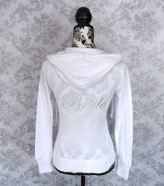Bride Jacket Hoodie. White Wedding Gift. By
