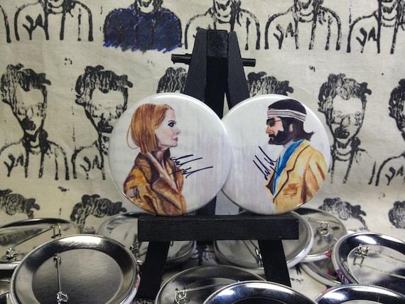 Ritchie and Margot Tenenbaum original artwork buttons