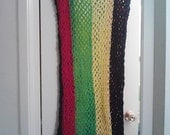 Crochet Rasta Tank Dress One Size Fits Most Mesh Rasta Dress Maxi Dress