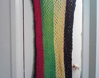 Crochet Rasta Tank Dress One Size Fits Most Mesh Rasta Dress Maxi Dress