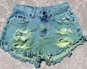 TAKE 35% OFF Going Green High Waisted Denim Shorts