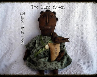 E Pattern....Primitive doll pattern The Care Giver  Click Your Heels