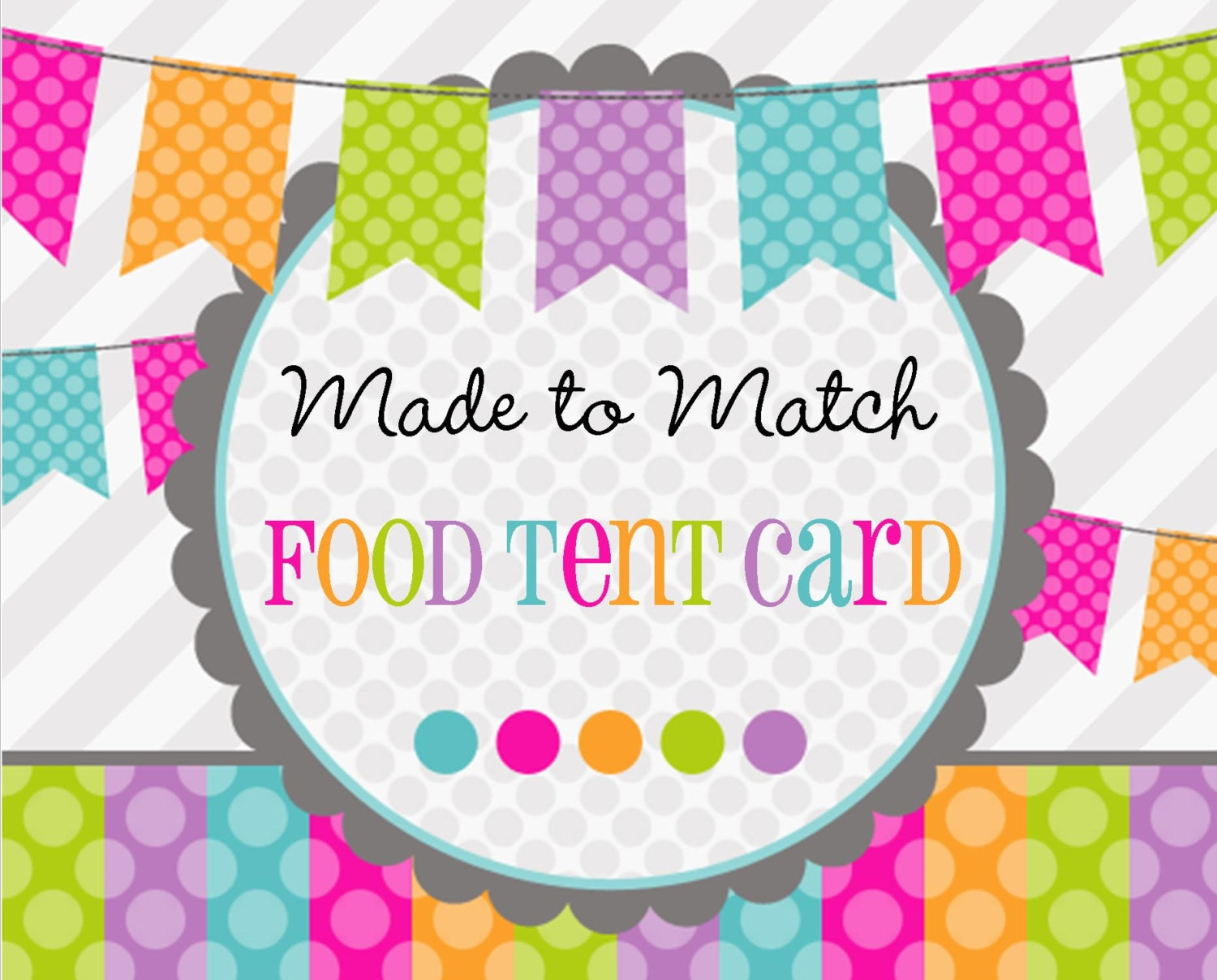 made 2 match printable food tent cards buffet cards labels
