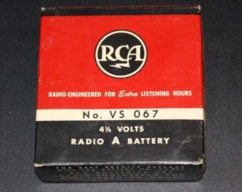 Vintage RCA Radio A Battery No. VS 067