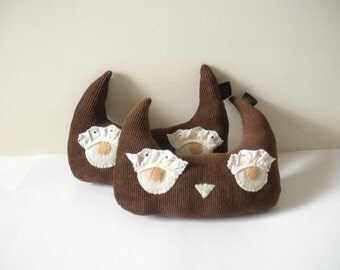 Owl Plush - Stuffed Owl - Brown Owl - Set of 2 Owls