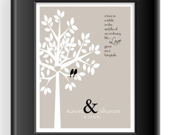Personalized Couple Gift -Valentine's Day Gift -Wedding Gift -First Anniversary Gift- Wording can be changed - Can be done in other colors