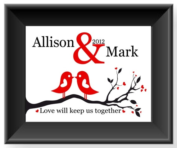 Monogrammed Wedding Gifts Couple: Items Similar To Anniversary Gift