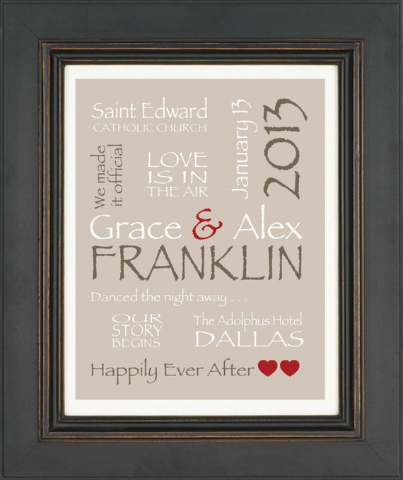 Items similar to personalized couple gift valentines gift for Gift for anniversary for couple