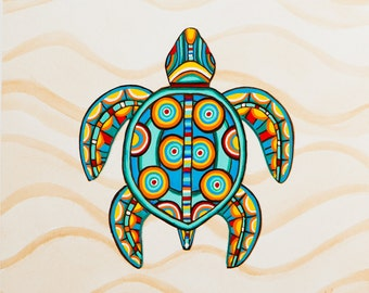 Popular items for turtle painting on Etsy