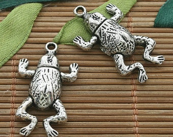 15pcs dark silver tone Toad or frog pendant charm h3627