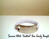 "Summer white ""Cocktail"" Arm Candy Bangle Bracelet"