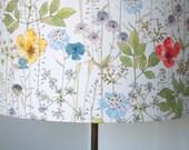 Handmade drum lampshade wildflowers poppies liberty uk
