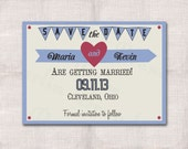 5x7 Heart Save the Date Custom Printable Card