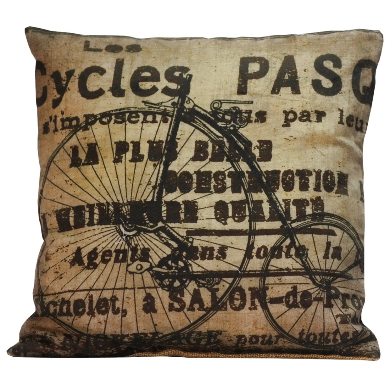 Throw Pillow Cover Vintage French Pillow by ElliottHeathDesigns