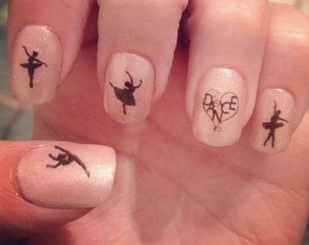 Ballet Dancers Nail Decals
