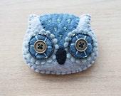 Felt owl Brooch - Cute Kawaii brooch - Owl brooch - Felt accessories - READY TO SHIP