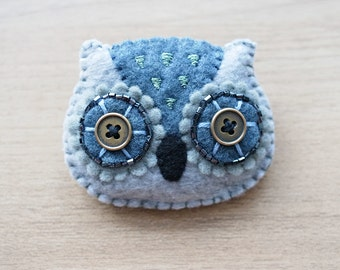 Felt owl Brooch - Cute Kawaii brooch - Owl brooch - Felt accessories - READY TO SHIP