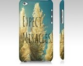 Expect Miracles - Samsung Galaxy Case, iPhone, iPod - beach grass blue sky nature photography by RDelean