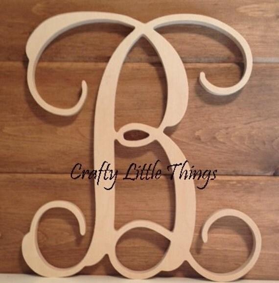 14 inch vine script wooden letters
